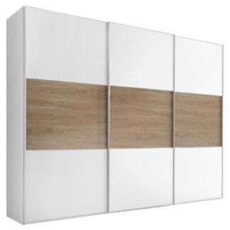 Möbelix Skříň S Posuvnými Dveřmi Includo 249 Cm Bílá/puccini