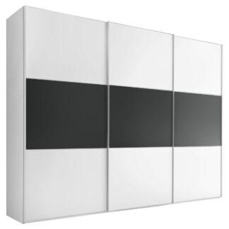 Möbelix Skříň S Posuvnými Dveřmi Includo 280 Cm Bílá/vulkan