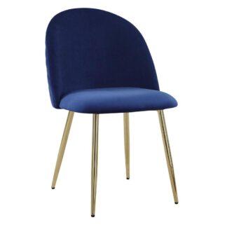 Möbelix Jídelní Židle Artdeco Modrá