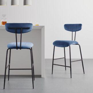 Möbelix Barová Židle Tylor Modrá