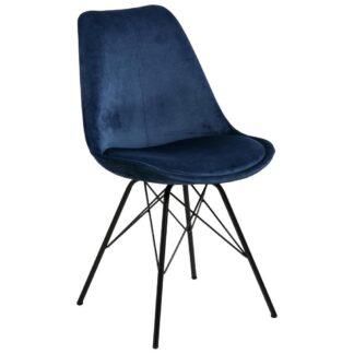 Möbelix Jídelní Židle Eris Tmavě Modrá