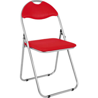 XXXLutz Skládací Židle Červená Barvy Hliníku