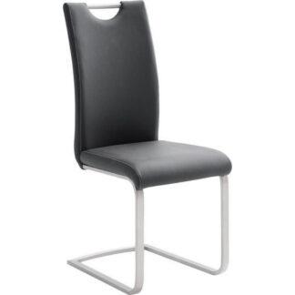 XXXLutz Houpací Židle Černá Barvy Nerez Oceli Novel