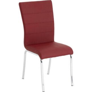 XXXLutz Židle Červená Barvy Chromu Dieter Knoll