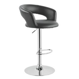 XXXLutz Barová Židle Černá Barvy Chromu Xora