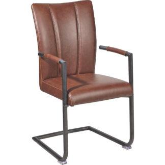 XXXLutz Židle S Područkami Hnědá Ambia Home