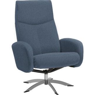 XXXLutz Relaxační Křeslo Textil Modrá Welnova