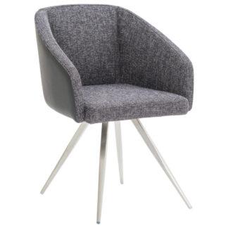 XXXLutz Židle S Područkami Antracitová Černá Barvy Nerez Oceli Dieter Knoll