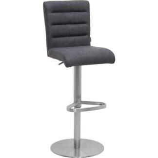 XXXLutz Barová Židle Černá Barvy Nerez Oceli Novel