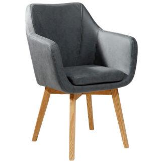 XXXLutz Židle S Područkami Antracitová Barvy Dubu Carryhome