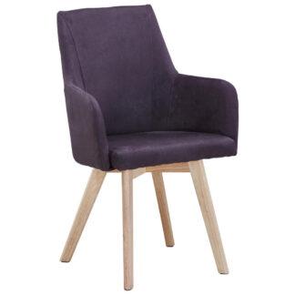 XXXLutz Židle S Područkami Přírodní Barvy Tmavě Šedá Carryhome