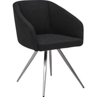 XXXLutz Židle S Područkami Černá Barvy Nerez Oceli Dieter Knoll