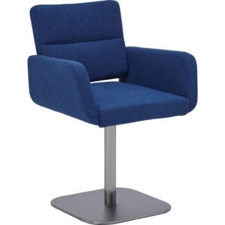 XXXLutz Židle S Područkami Modrá Barvy Nerez Oceli Dieter Knoll
