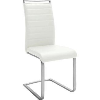XXXLutz Houpací Židle Bílá Barvy Nerez Oceli Novel