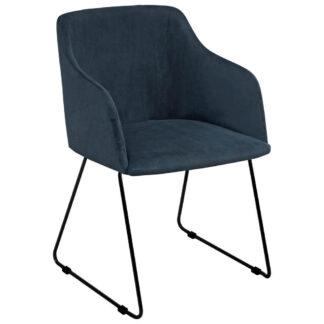 XXXLutz Židle S Područkami Tmavě Modrá Carryhome