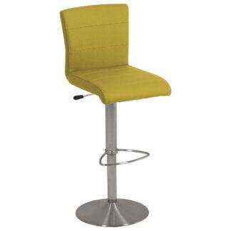 XXXLutz Barová Židle Žlutá Barvy Nerez Oceli Dieter Knoll