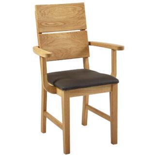 XXXLutz Židle S Područkami Tmavě Hnědá Linea Natura