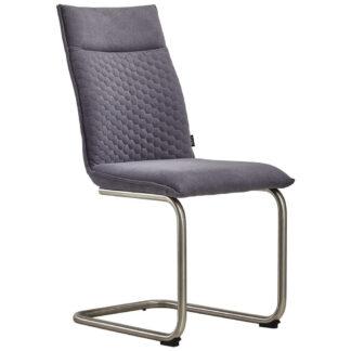 XXXLutz Pohupovací Židle Šedá Barvy Nerez Oceli Xora