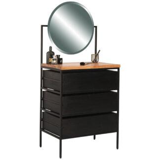 XXXLutz Kosmetický Stůl Akácie Černá Barvy Akácie Ambia Home