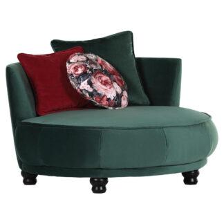 XXXLutz Designové Křeslo Textil Červená Tmavě Zelená Carryhome