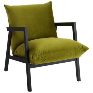 XXXLutz Křeslo Dřevo Textil Zelená Barvy Wenge Carryhome
