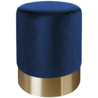 XXXLutz Taburet Modrá Barvy Zlata Xora