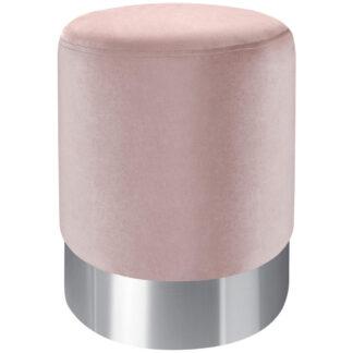 XXXLutz Taburet Růžová Barvy Nerez Oceli Xora
