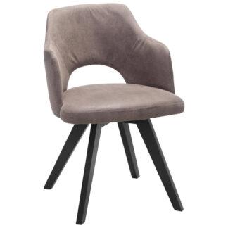 XXXLutz Židle S Područkami Hnědá Černá Venda