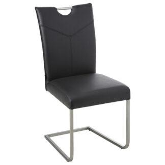 XXXLutz Pohupovací Židle Černá Barvy Nerez Oceli Novel