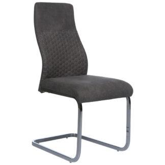 XXXLutz Pohupovací Židle Šedá Barvy Chromu Ti`me