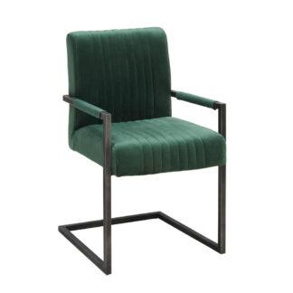 XXXLutz Židle S Područkami Zelená Černá Ambia Home