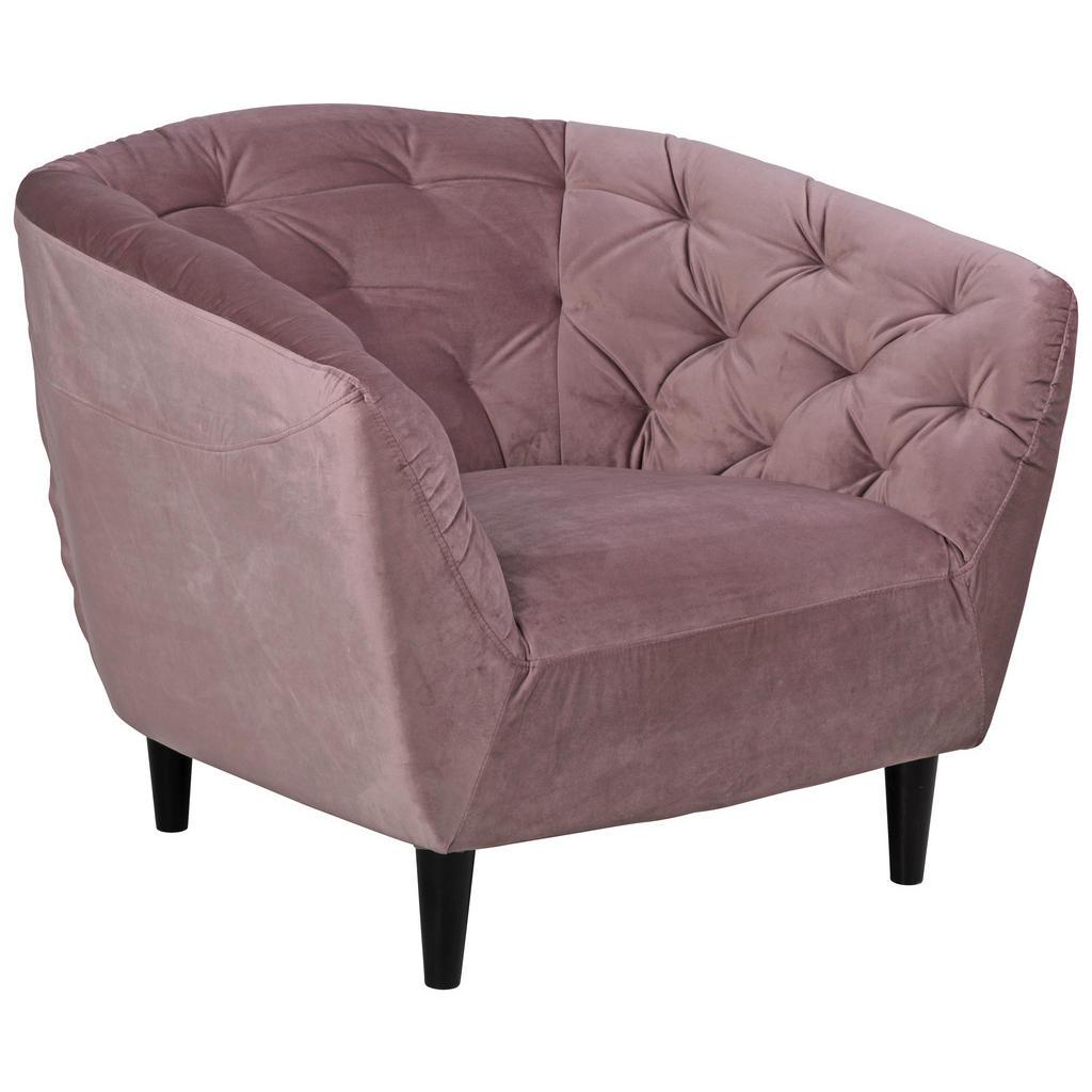 XXXLutz Křeslo Chesterfield Textil Růžová Ambia Home