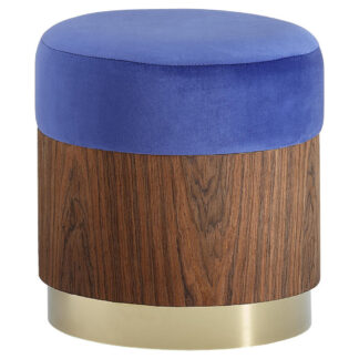 XXXLutz Taburet Modrá Barvy Zlata Barvy Vlašských Ořechů Xora