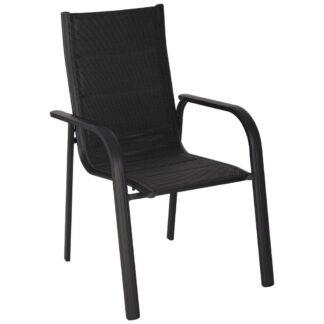 XXXLutz Stohovatelná Židle Antracitová Černá