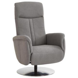 XXXLutz Relaxační Křeslo Textil Barvy Hliníku Beldomo Comfort