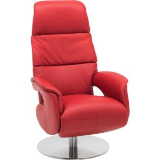 XXXLutz Relaxační Křeslo Kůže Červená Welnova