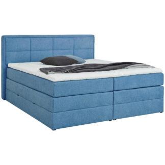 XXXLutz Postel Boxspring 160/200 Cm Textil Modrá Esposa