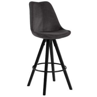 Möbelix Barová Židle Dima Tmavě Šedá