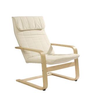 XXXLutz Relaxační Křeslo Dřevo Textil Přírodní Barvy Béžová Carryhome