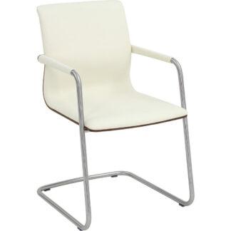 XXXLutz Židle S Područkami Bílá Barvy Ořechu Barvy Nerez Oceli Venjakob