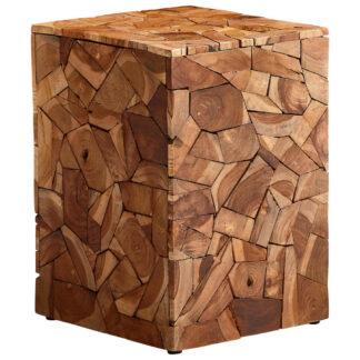 XXXLutz Odkládací Stolek Recyklované Dřevo Teakové Dřevo Přírodní Barvy...