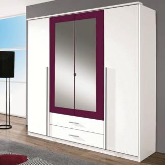 Asko Šatní skříň Krefeld, 181 cm, bílá/fialová