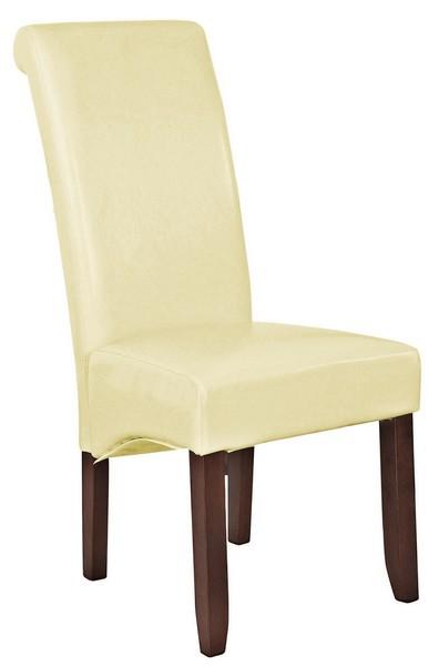 Asko Jídelní židle Lenox, krémová ekokůže