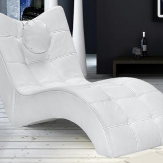 Asko Relaxační lehátko London, bílá ekokůže