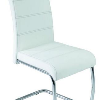 Asko Jídelní židle Flora, bílá ekokůže