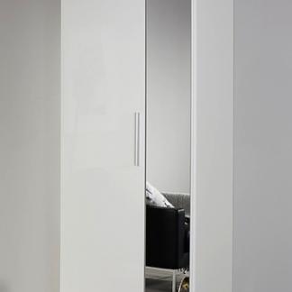 Asko Šatní skříň Minosa, 69 cm, lesklá bílá