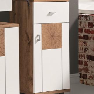 Asko Koupelnová boční skříňka Spalt, divoký dub wotan/bílá