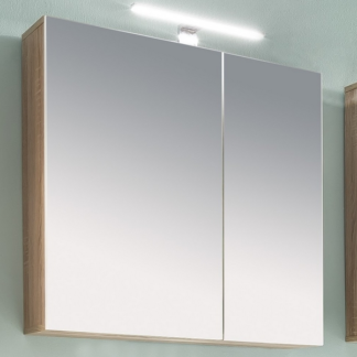 Asko Koupelnová skříňka se zrcadlem Porto, dub sonoma