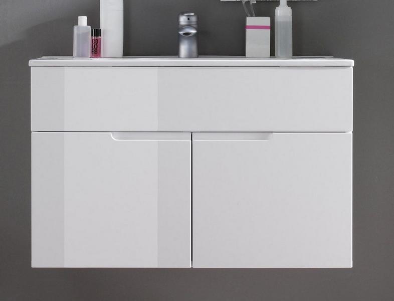 Asko Koupelnová skříňka s umyvadlem Spice, lesklá bílá