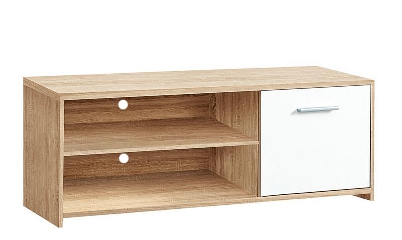Asko TV skříňka Quadro T11, dub sonoma/bílá